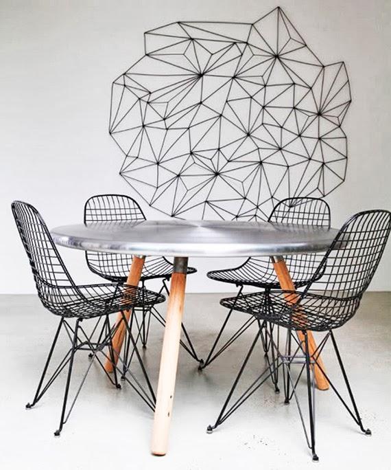 fita isolante colorida - decorar com fita - criatividade na parede