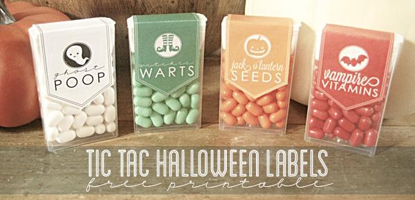 Halloween Tic Tac printables