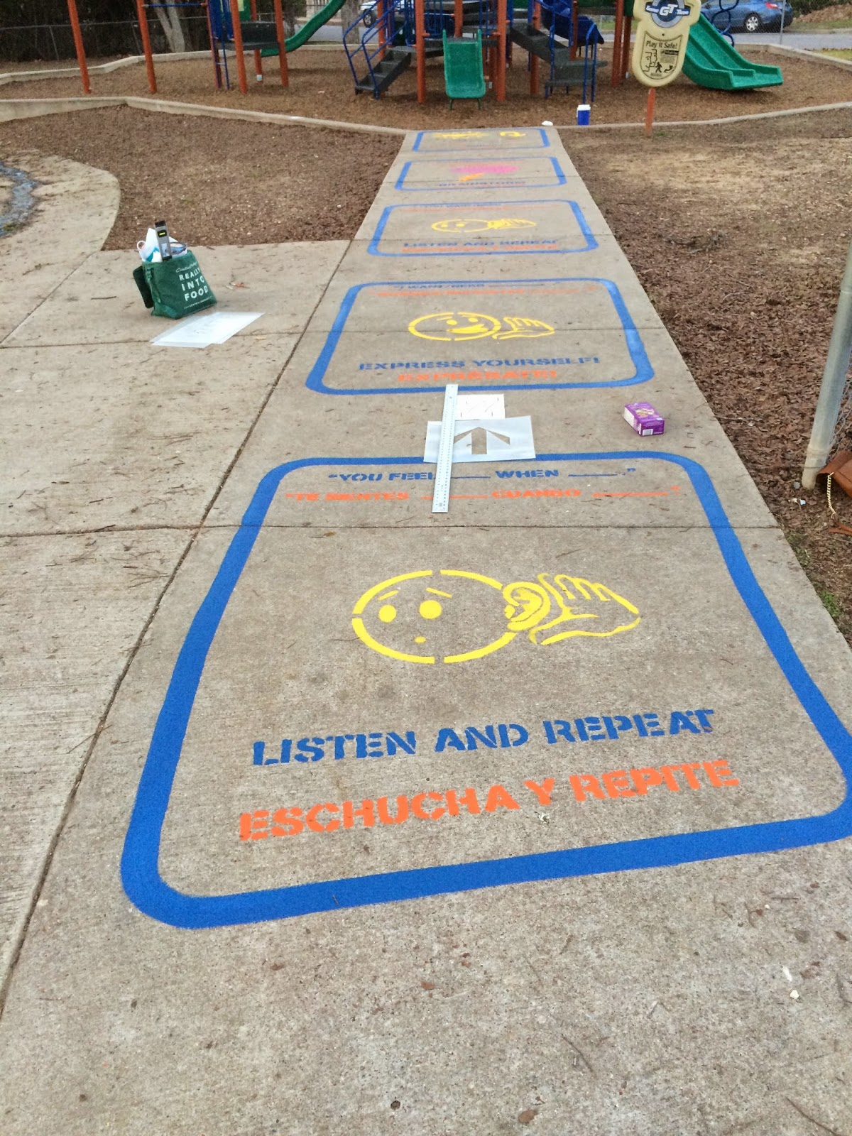 Ms Sepps Counselor Corner Our New PEACE PATH - Playground stencils