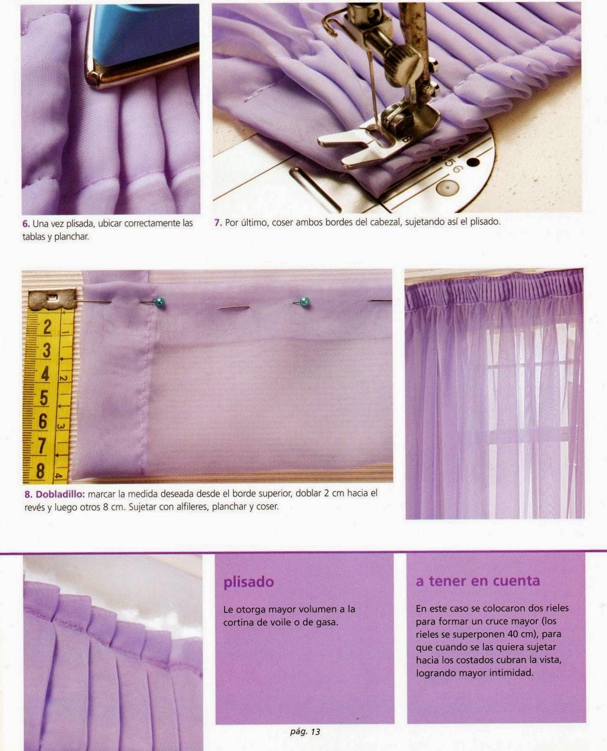 Como hacer cortinas paso a paso revistas de manualidades - Como hacer unas cortinas para el salon ...
