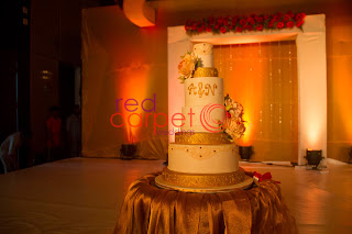 Wedding cake at Hotel Crowne plaza, Cochin