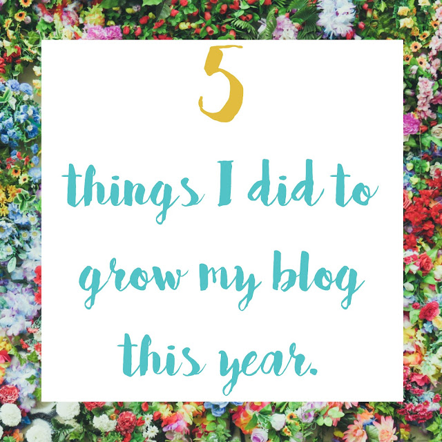 things I did to grow my blog