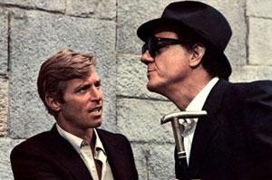 James Franciscus y Karl Malden en El gato de las nueve colas