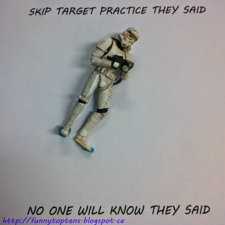 #StarwarsTuesday Storm trooper skip target practice