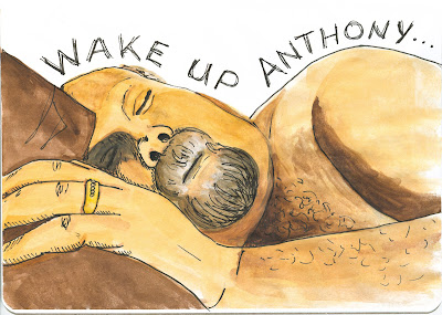 Anthony Sleeping - Watercolour with Ink by Ant Tirolese ©2012