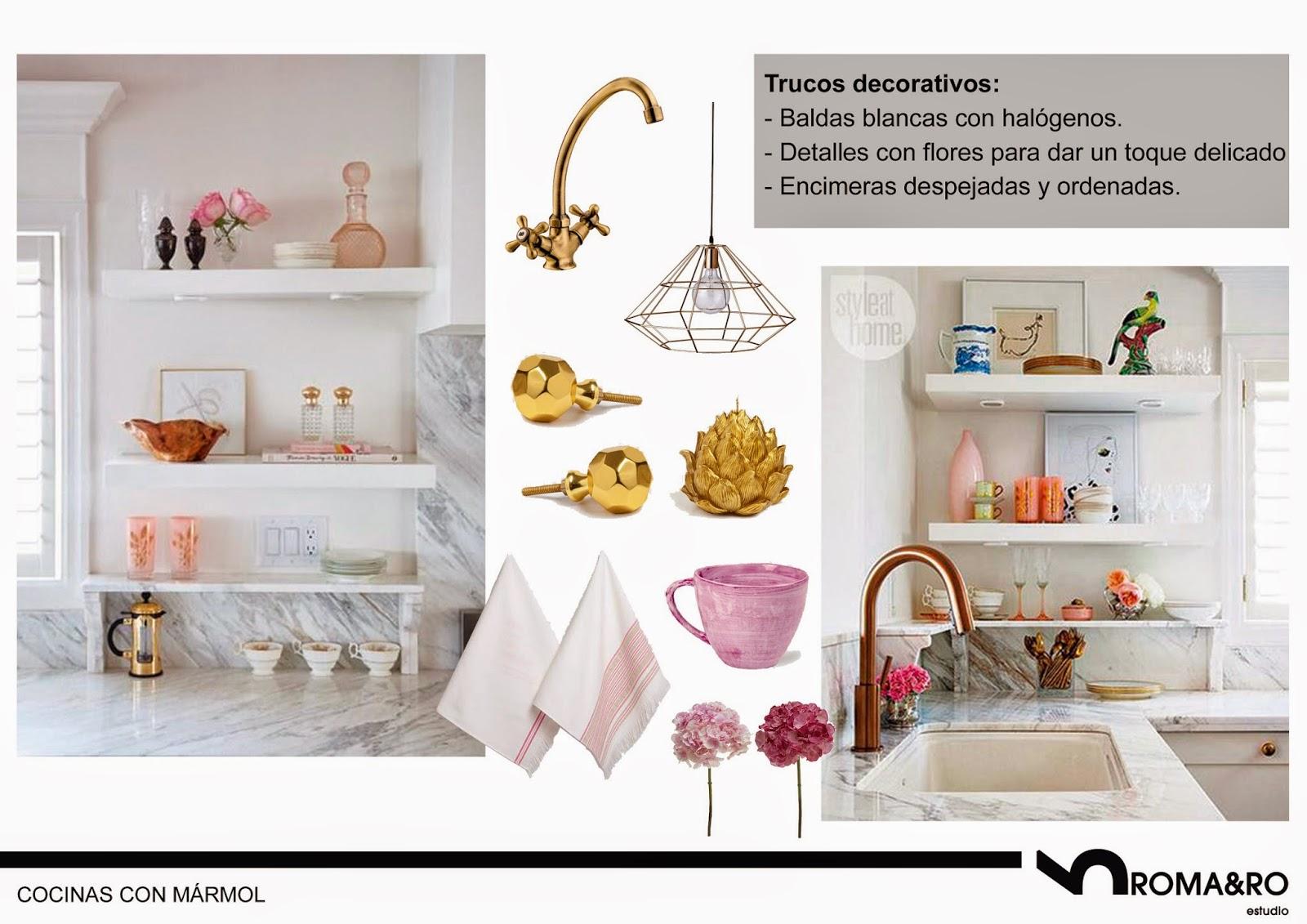 Decoración en cobre y dorados