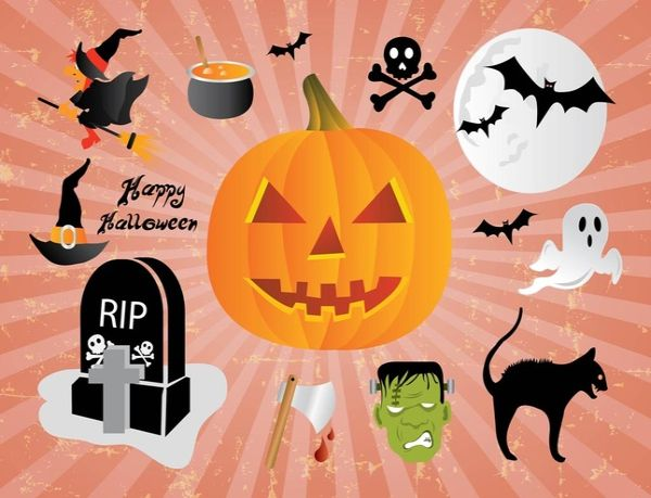 Free Happy Halloween Design Illustrations