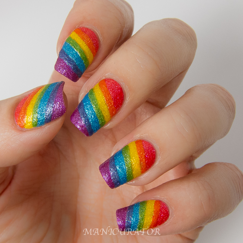 Line Texture On Nails : Manicurator opi brazil textures rainbow nail art