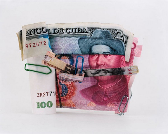 fotomontaje con billete