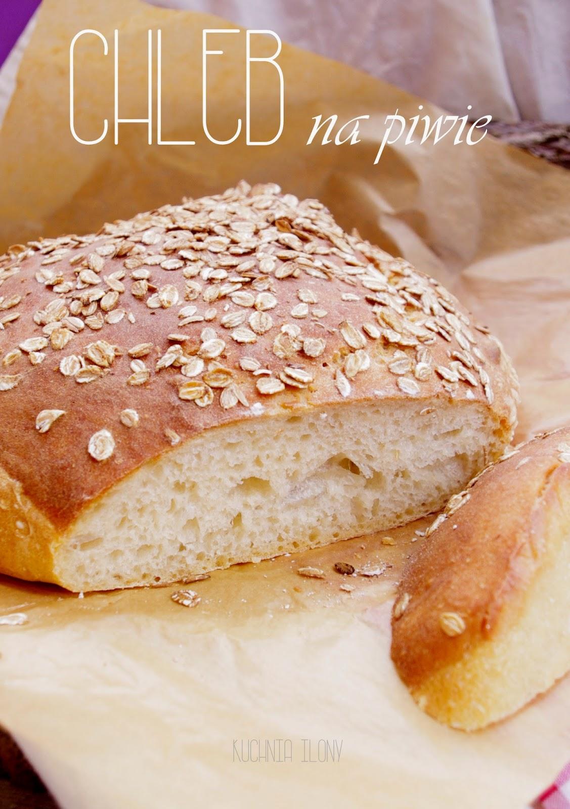 chleb na piwie, chleb na guinnessie, chleb na drożdżach, chleb,
