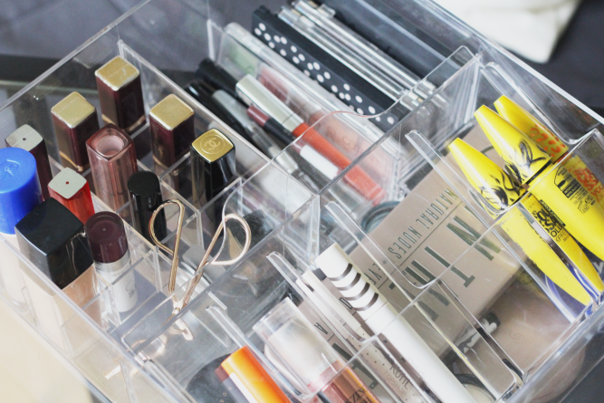 IKEA makeup storage