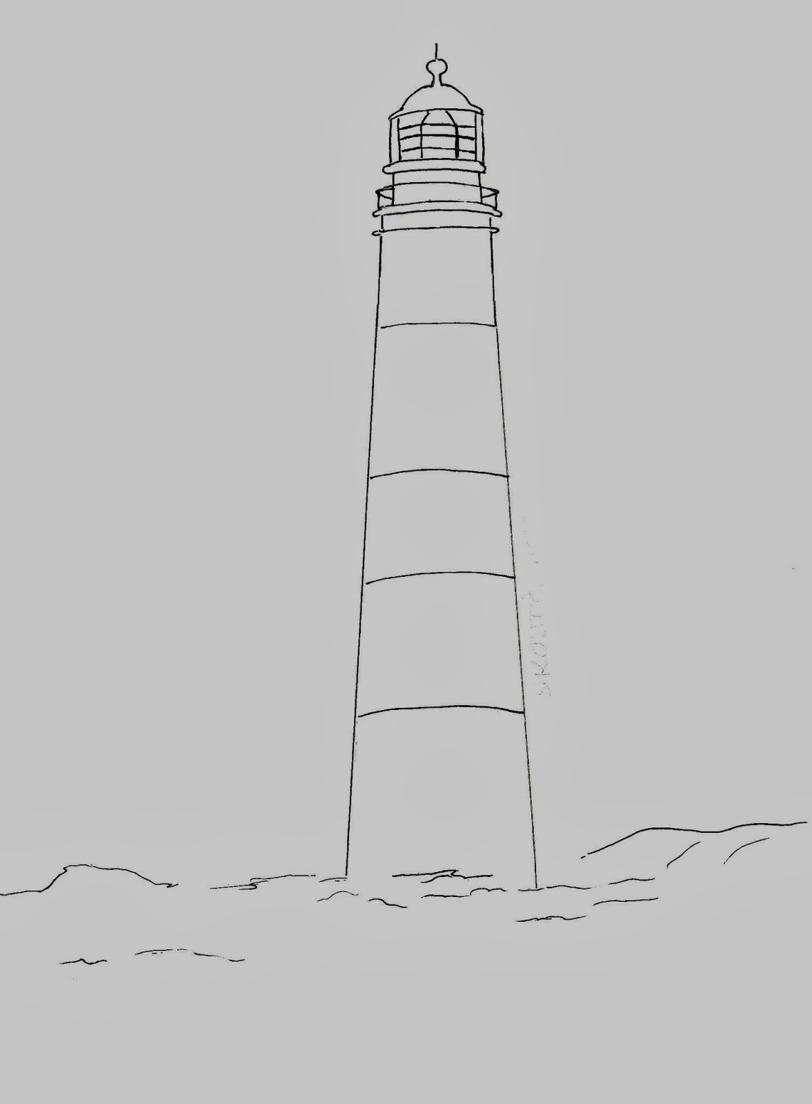 Line Drawing Lighthouse : Draw a lighthouse art class ideas