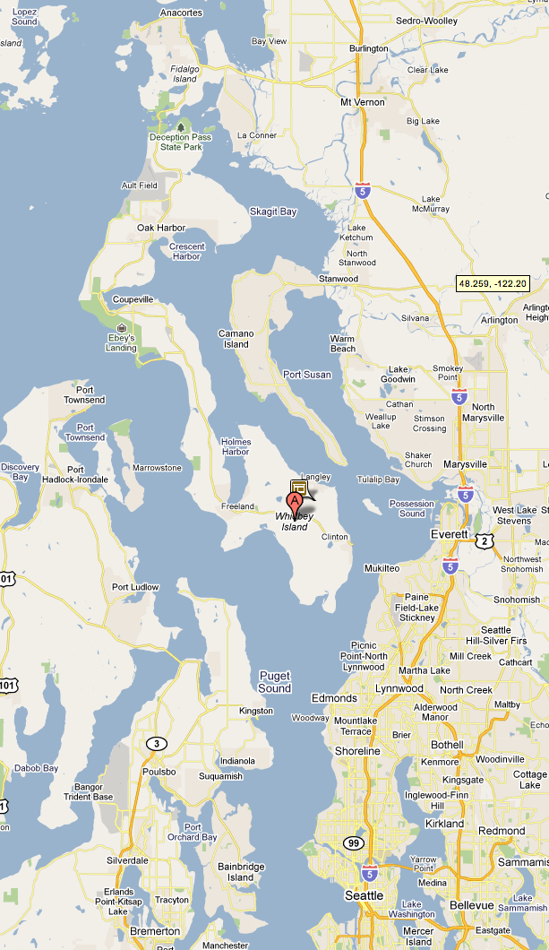 Map Of Whidbey Island Washington Images