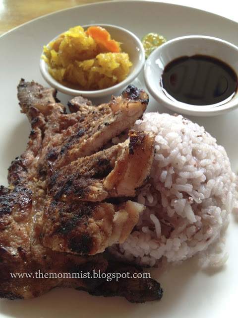 Grilled porkchop with upland rice