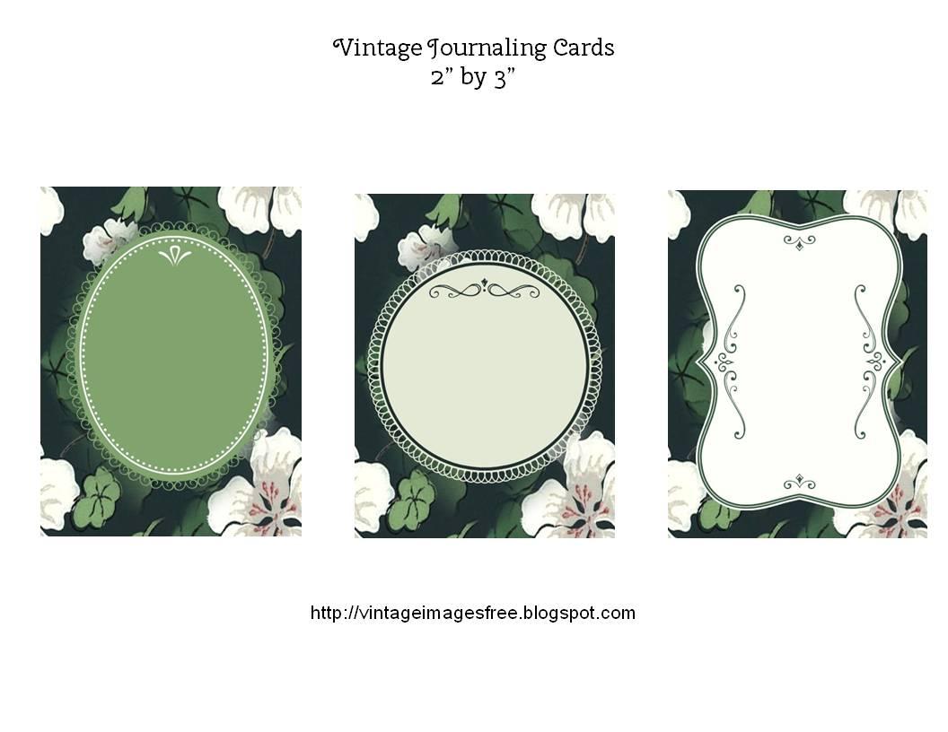 カード メッセージカード印刷用紙 : Free Printable Vintage Journaling Cards