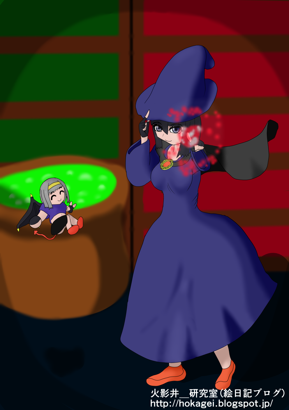 魔女コスプレ(八雲楓、羽園雫)