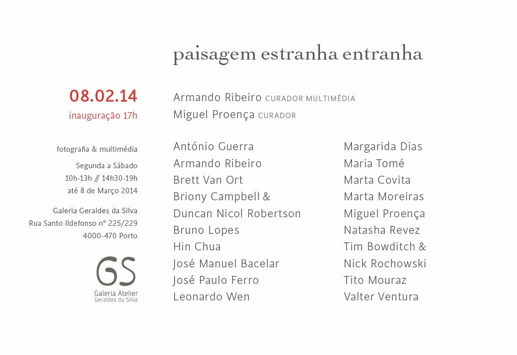 Invitation, design Patrícia Proença, Porto, 2014, design