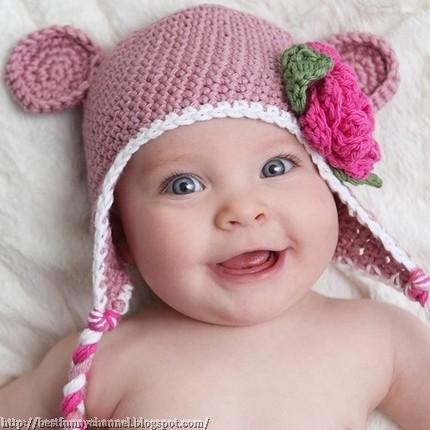 Baby in a cap.