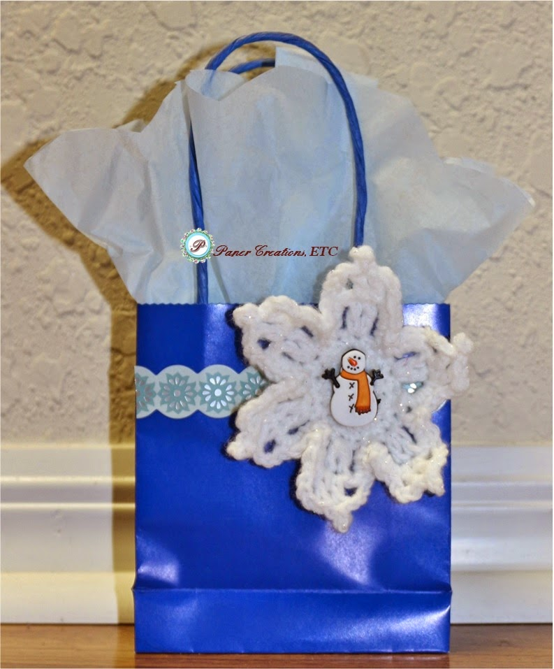 Crochet Grocery Bag Pattern : Paper Creations, ETC: Gift Bag + Free Crochet Ornament Pattern