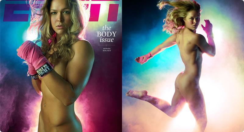 As melhores fotos sensuais da lutadora Ronda Rousey