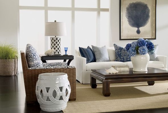navy and white living room. Gray  Inspirations On The Horizon Coastal Rooms With Nautical Navy Blue