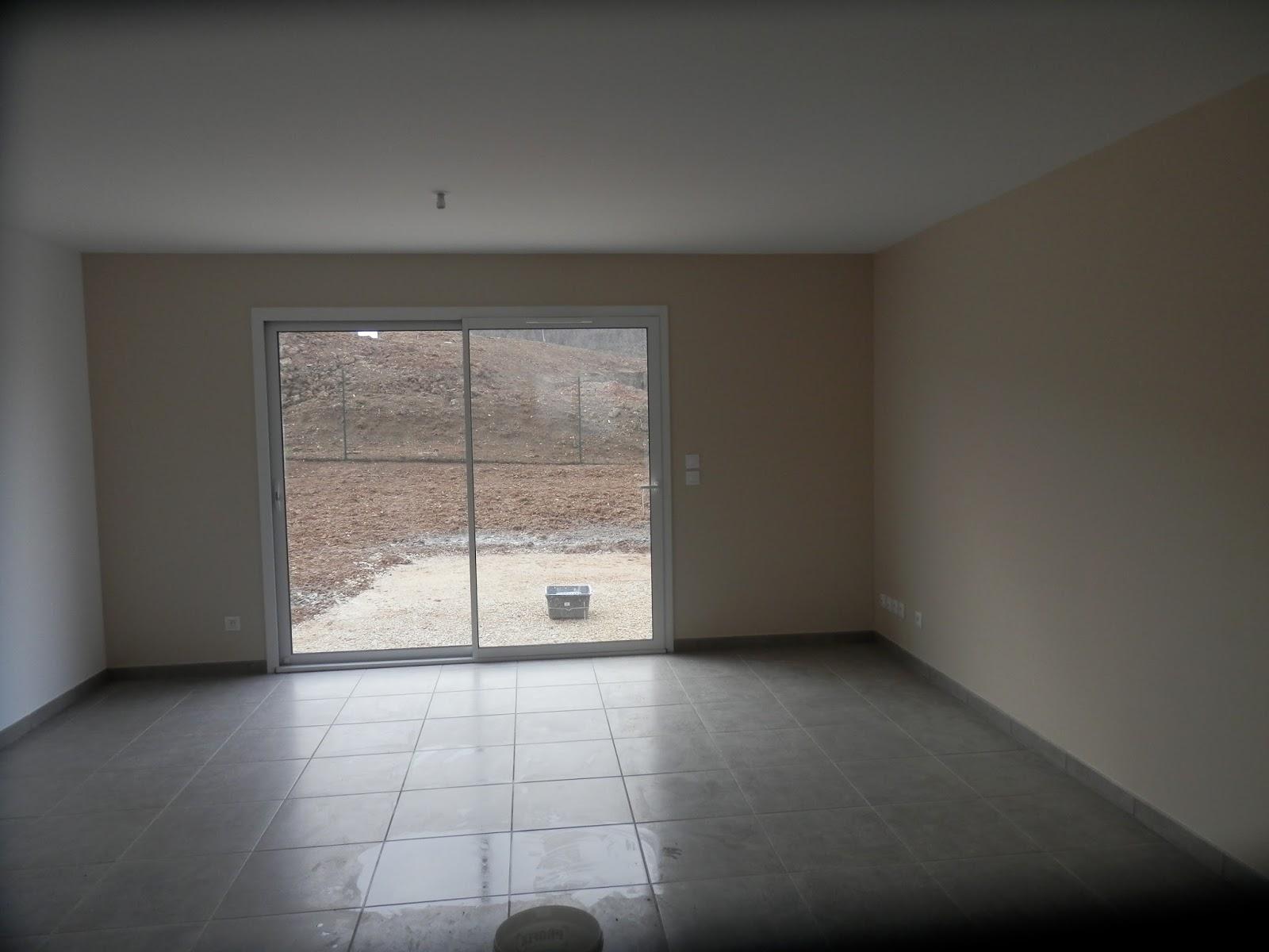 La salle vivre avec les 2 murs poudre de riz et le for Chambre trop seche