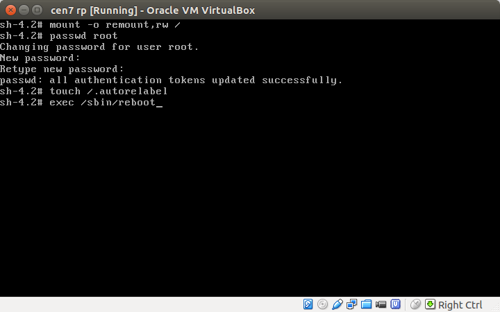 DriveMeca reseteando contrraseña de cuenta root en Linux Centos 7