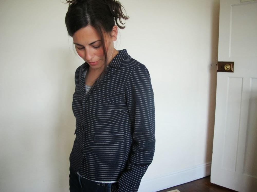 Stripe Jersey Jacket