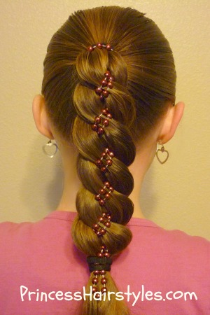Hairstyles for girls princess hairstyles braid with beads ccuart Gallery