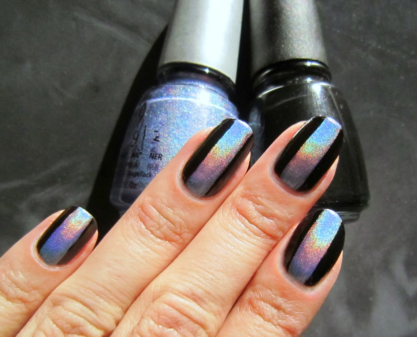 Concrete and Nail Polish: Holographic