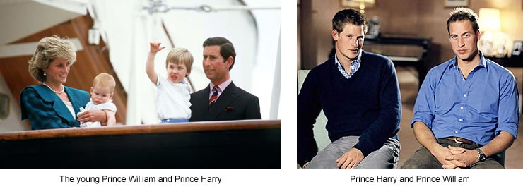 The Marriage of Prince Charles and Lady Diana Spencer (1): Prince Harry and Prince William