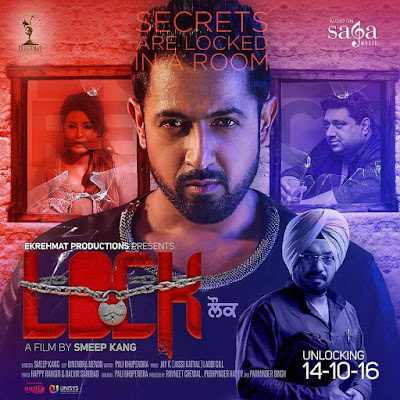 Poster Of Pollywood Movie Lock 2016 300MB HDRip 480P Full Punjabi Movie