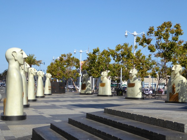 Our Silences Rivelino sculptures Embarcadero SF