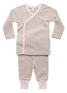 organic baby winter kimono set