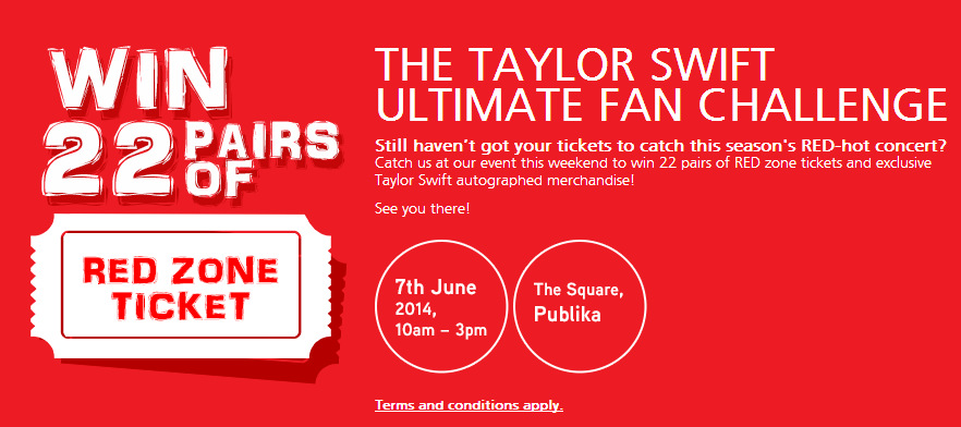 TAYLOR SWIFT ULTIMATE FAN CHALLENGE @ THE SQUARE PUBLIKA