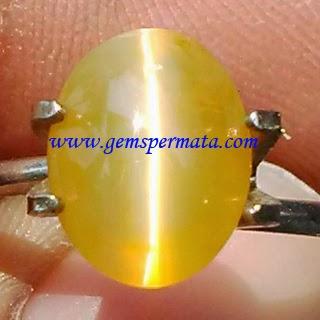 Batu Permata Opal Mata Kucing Kuning