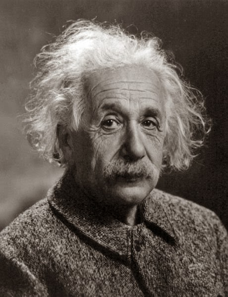 Albert Einstein -This work is in the public domain because it was published in the United States between 1923 and 1963 and although there may or may not have been a copyright notice, the copyright was not renewed. Unless its author has been dead for the required period, it is copyrighted in the countries or areas that do not apply the rule of the shorter term for US works, such as Canada (50 pma), Mainland China (50 pma, not Hong Kong or Macao), Germany (70 pma), Mexico (100 pma), Switzerland (70 pma), and other countries with individual treaties. See Commons:Hirtle chart for further explanation.