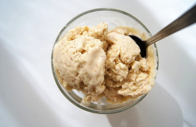 salted sky: coconut almond ice cream.