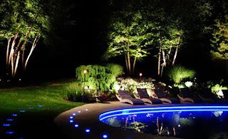 candeeiros leds jardim
