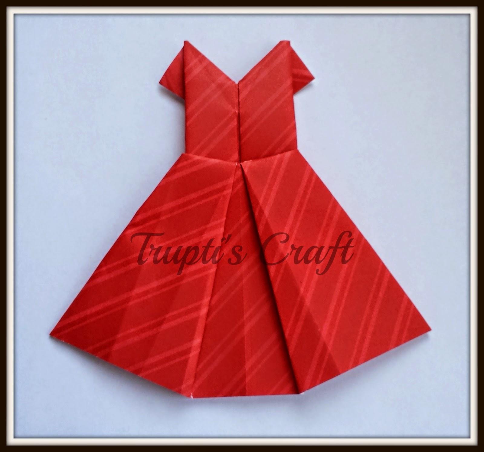 truptis craft origami dress