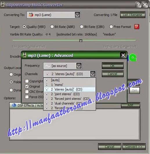 TIPS MENGAKALI BITRATE MP3
