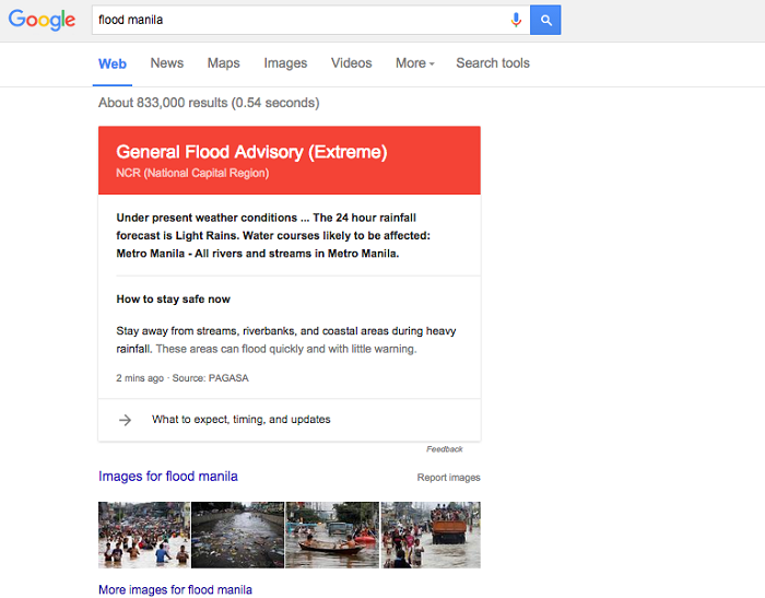 Google Flood Alerts