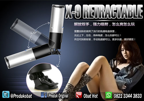Alat Bantu x-9 Retractable Solusi Untuk Mastrubasi Pria Saat Sendiri.