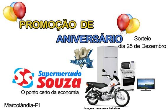 PROMOÇÃO DE ANIVERSÁRIO SUPERMERCADO SOUSA