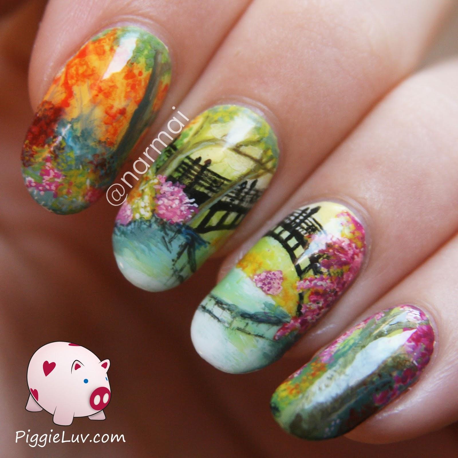 PiggieLuv: Nail art inspired by Ann Marie Bone