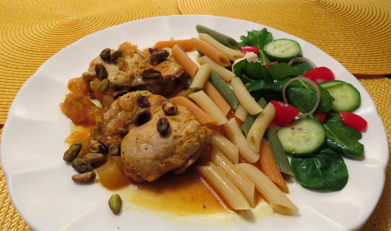 La cuisine de messidor hauts de cuisse de poulet l indienne - Cuisse de poulet a la poele ...