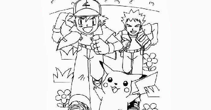 pokemon ash brock coloring pages free coloring pages and coloring books for kids