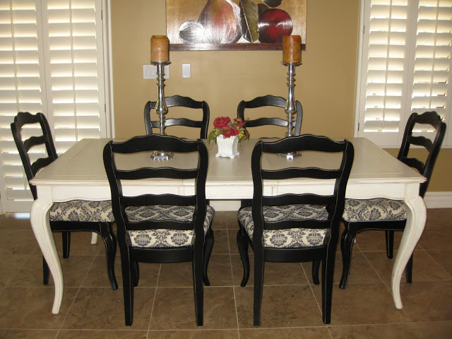 painting dining room set black images