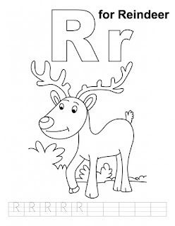R For Reindeer Worksheet Letter Rr printable co...