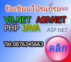 รับเขียนโปรแกรม asp.net php vb.net java